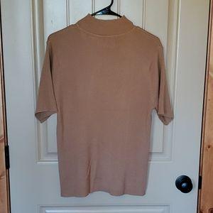 Sag Harbor brown sort sleeve mid turtle sweater